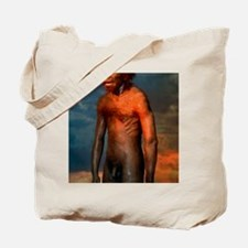 Model of a male Homo erectus man Tote Bag