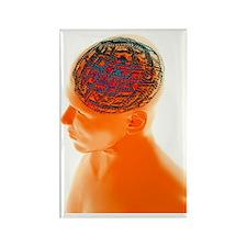 Artificial intelligence, artwork Rectangle Magnet