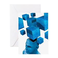 Artificial intelligence, artwork Greeting Card
