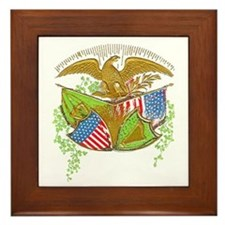 Ireland American Flags Framed Tile