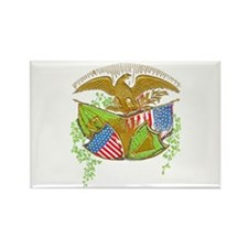 Ireland American Flags Rectangle Magnet