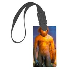 Models of Homo erectus men Luggage Tag