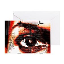 Artificial intelligence, artwork Greeting Card