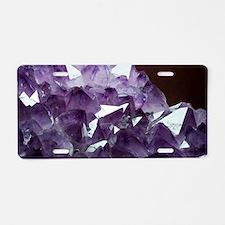 Amethyst crystals Aluminum License Plate
