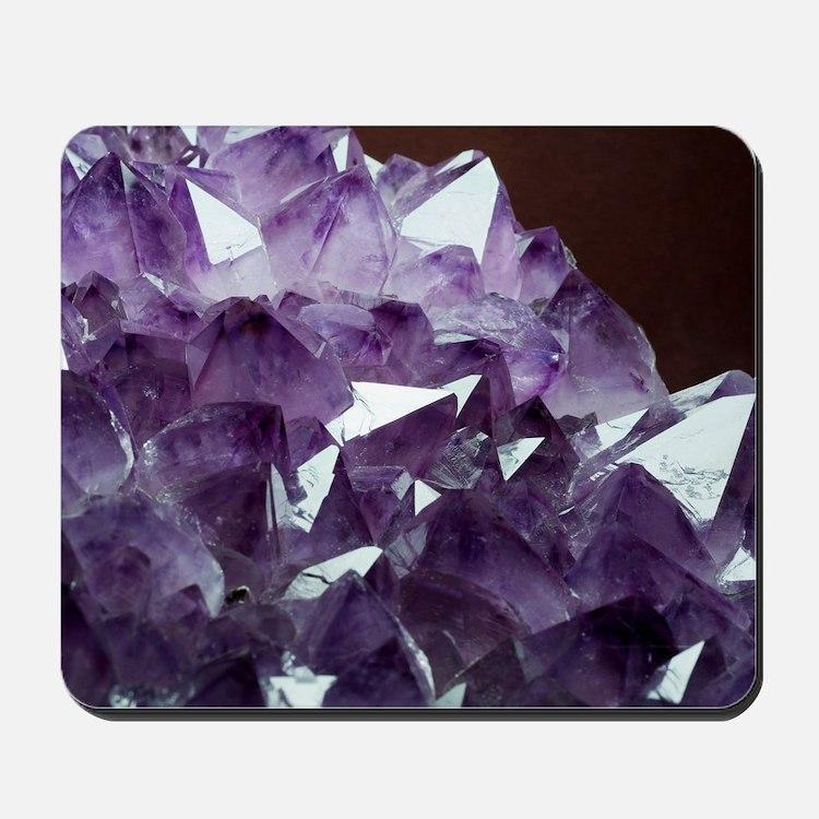 Amethyst crystals Mousepad