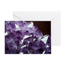 Amethyst crystals Greeting Card