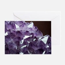 Amethyst crystals Greeting Card