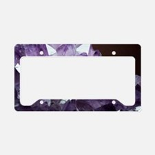 Amethyst crystals License Plate Holder