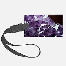 Amethyst crystals Luggage Tag