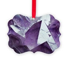 Amethyst crystals Picture Ornament