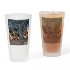 Model of a neanderthal burial scene Drinking Glass
