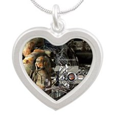 Artificial heart, conceptual Silver Heart Necklace