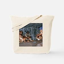 Model of a neanderthal burial scene Tote Bag