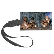 Model of a neanderthal burial sc Luggage Tag