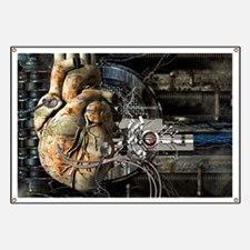 Artificial heart, conceptual artwork Banner