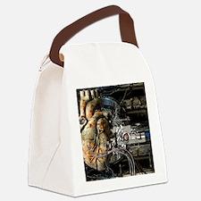 Artificial heart, conceptual artw Canvas Lunch Bag