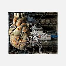 Artificial heart, conceptual artwork Throw Blanket
