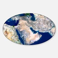 Middle East, satellite image Decal