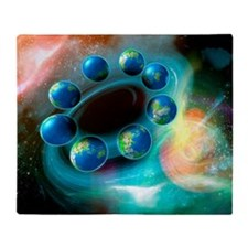 Alternative Earths, artwork Throw Blanket