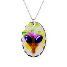 Alien, artwork Necklace Oval Charm