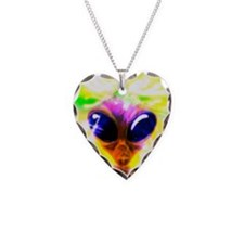 Alien, artwork Necklace Heart Charm