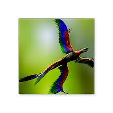 "Microraptor dinosaur flying Square Sticker 3"" x 3"""