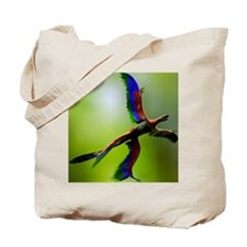 Microraptor dinosaur flying, artwork Tote Bag