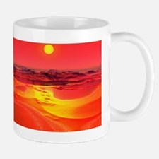 Alien planet, artwork Mug