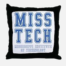 Miss Tech Throw Pillow
