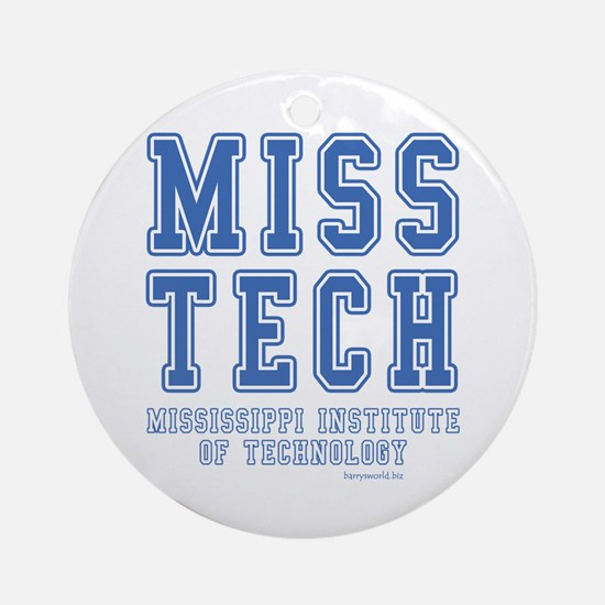 Miss Tech Ornament (Round)