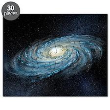 Milky way galaxy, artwork Puzzle
