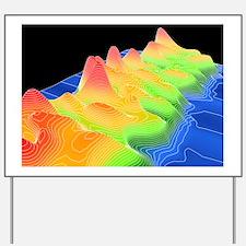 3D surface graph, computer artwork Yard Sign
