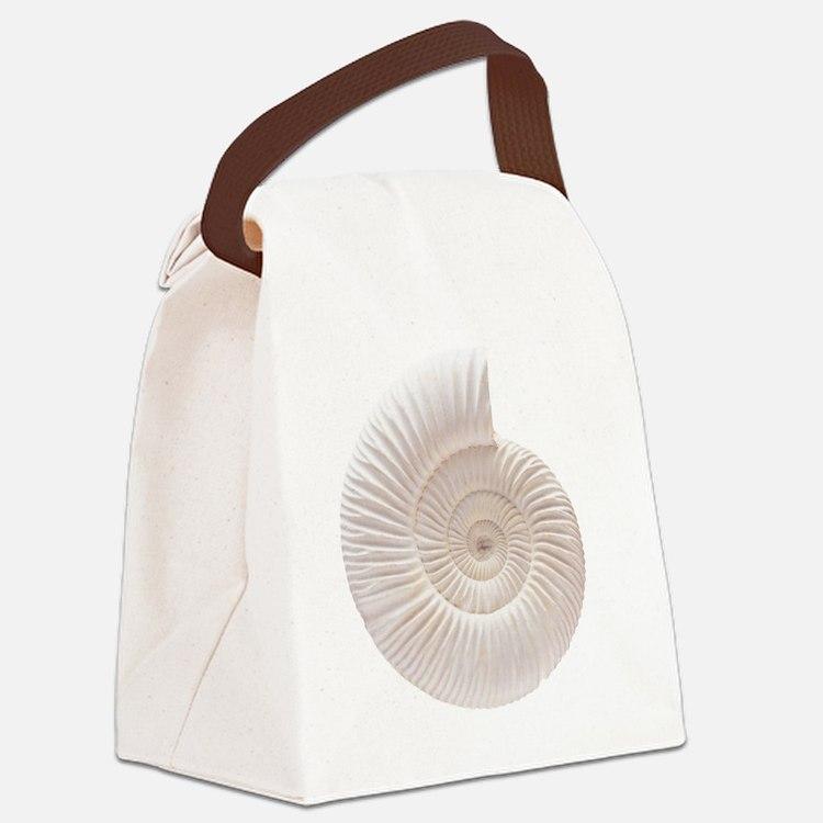 Ammonite Canvas Lunch Bag