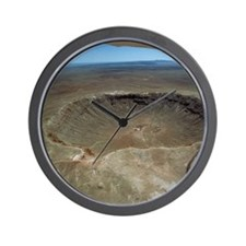 Meteor crater Wall Clock