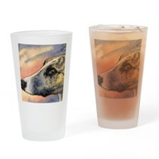 Brindle whippet greyhound dog Drinking Glass