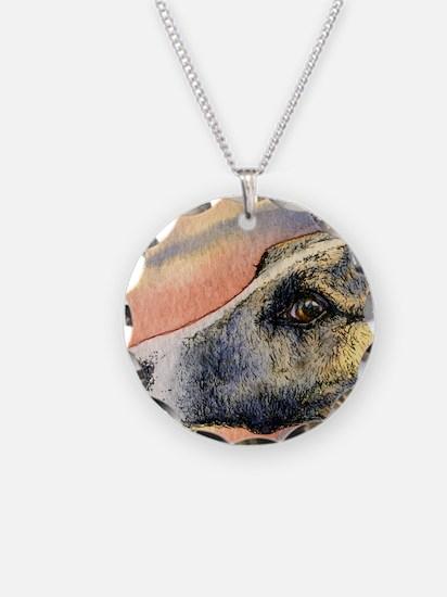Brindle whippet greyhound do Necklace