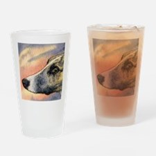 Brindle whippet greyhound dog Drinking Glass