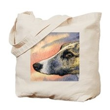 Brindle whippet greyhound dog Tote Bag