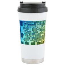 Microchip, light micrograph Travel Mug