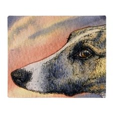 Brindle whippet greyhound dog Throw Blanket