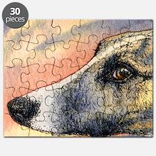 Brindle whippet greyhound dog Puzzle