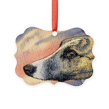 Brindle whippet greyhound dog Ornament