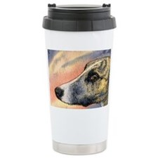 Brindle whippet greyhound dog Travel Mug