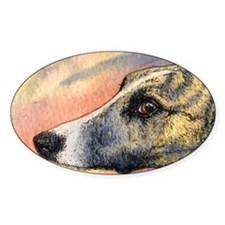 Brindle whippet greyhound dog Bumper Stickers