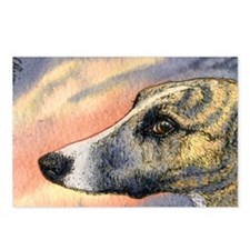 Brindle whippet greyhound Postcards (Package of 8)