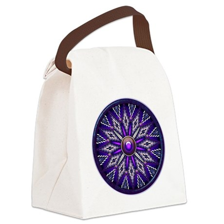 Native American Rosette 010 Canvas Lunch Bag