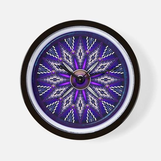Native American Rosette 010 Wall Clock