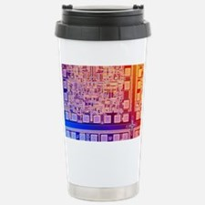 Microchip, light micrograph Travel Mug