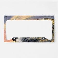 Brindle whippet greyhound dog License Plate Holder