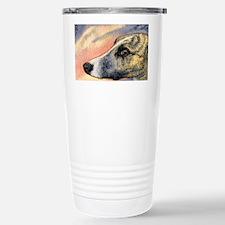 Brindle whippet greyhound dog Travel Mug